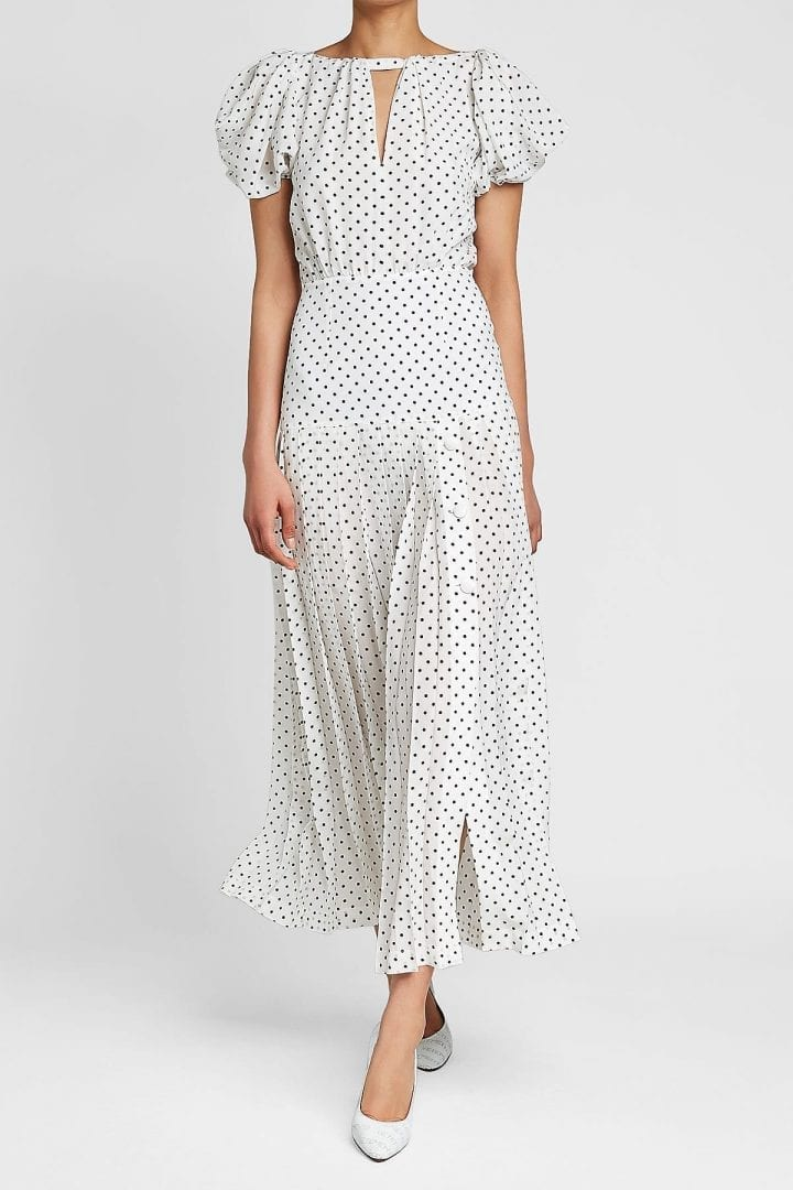 ALESSANDRA RICH Silk White / Printed Dress