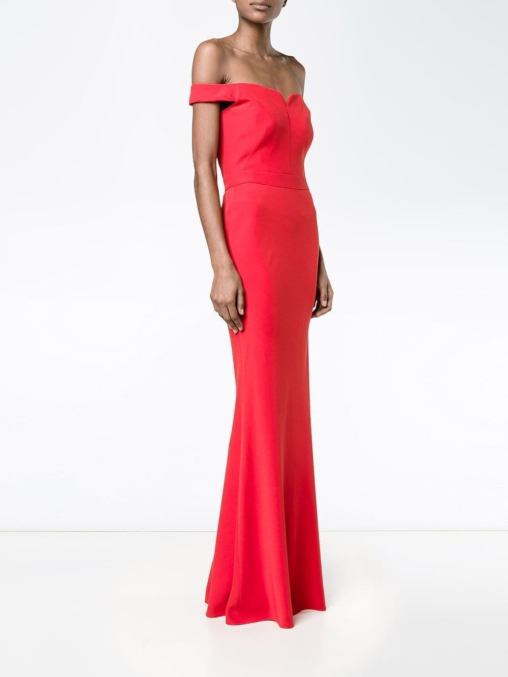 ALEXANDER MCQUEEN Off Shoulder Red Gown