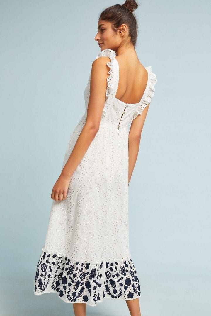 4b96882b9 ALLISON Embroidered Eyelet Midi White Dress - We Select Dresses
