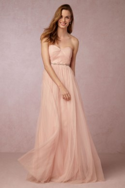 ANTHROPOLOGIE Annabelle Blush Dress