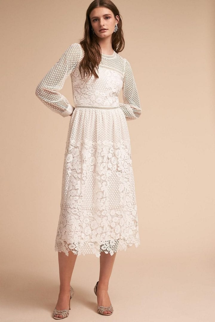 9bfad24236fa ANTHROPOLOGIE Edina Ivory Cream Dress - We Select Dresses