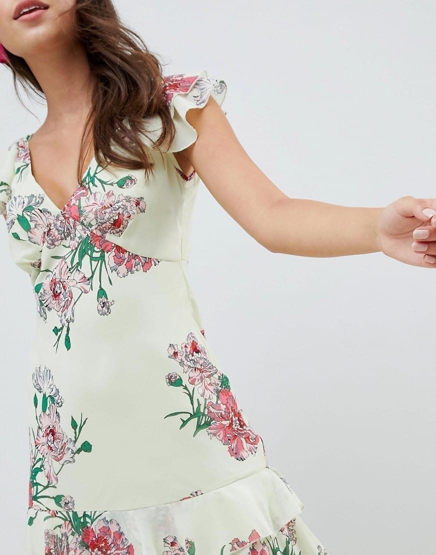 394259b22c03 ASOS DESIGN Tiered Ruffle Maxi Floral Print Dress - We Select Dresses