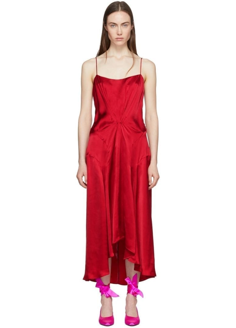 CARVEN Viscose Slip Red Dress - We Select Dresses
