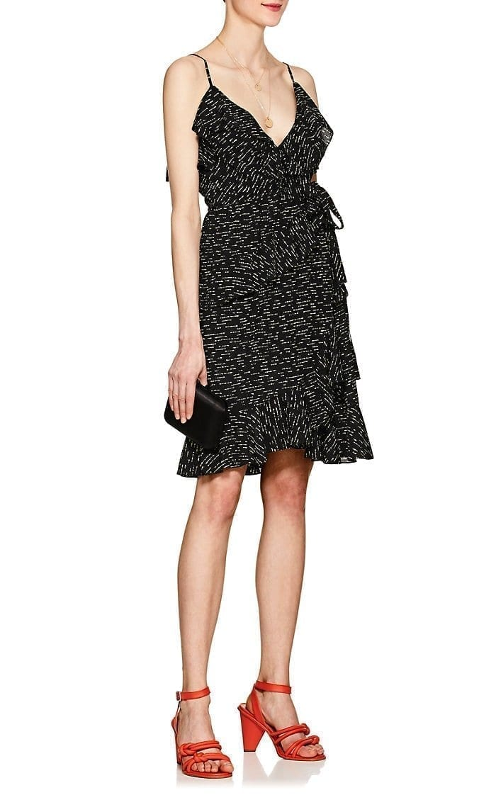 Derek Lam 10 Crosby Silk Wrap Black Dress