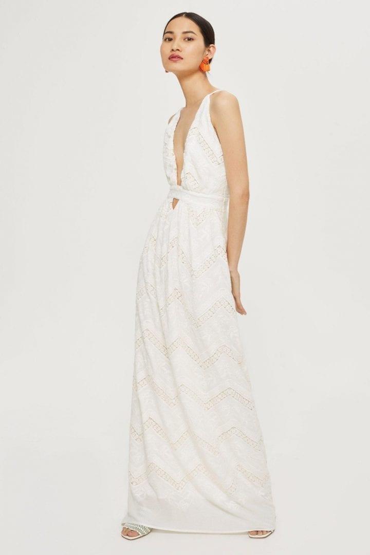 FLYNN SKYE Halter Neck Bridal Ivory Gown