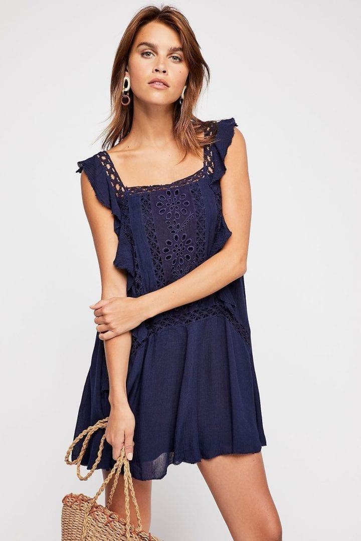 FREEPEOPLE Priscilla Navy Dress