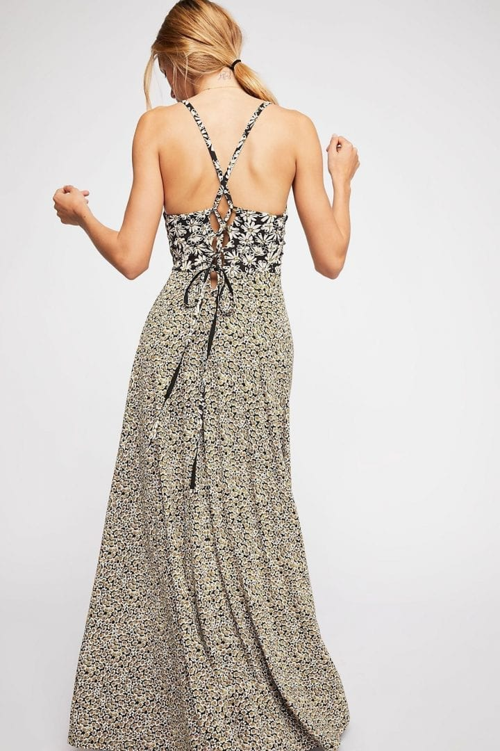 b7160cdffb3 FREEPEOPLE Song of Summer Maxi Onyx Combo Dress - We Select Dresses