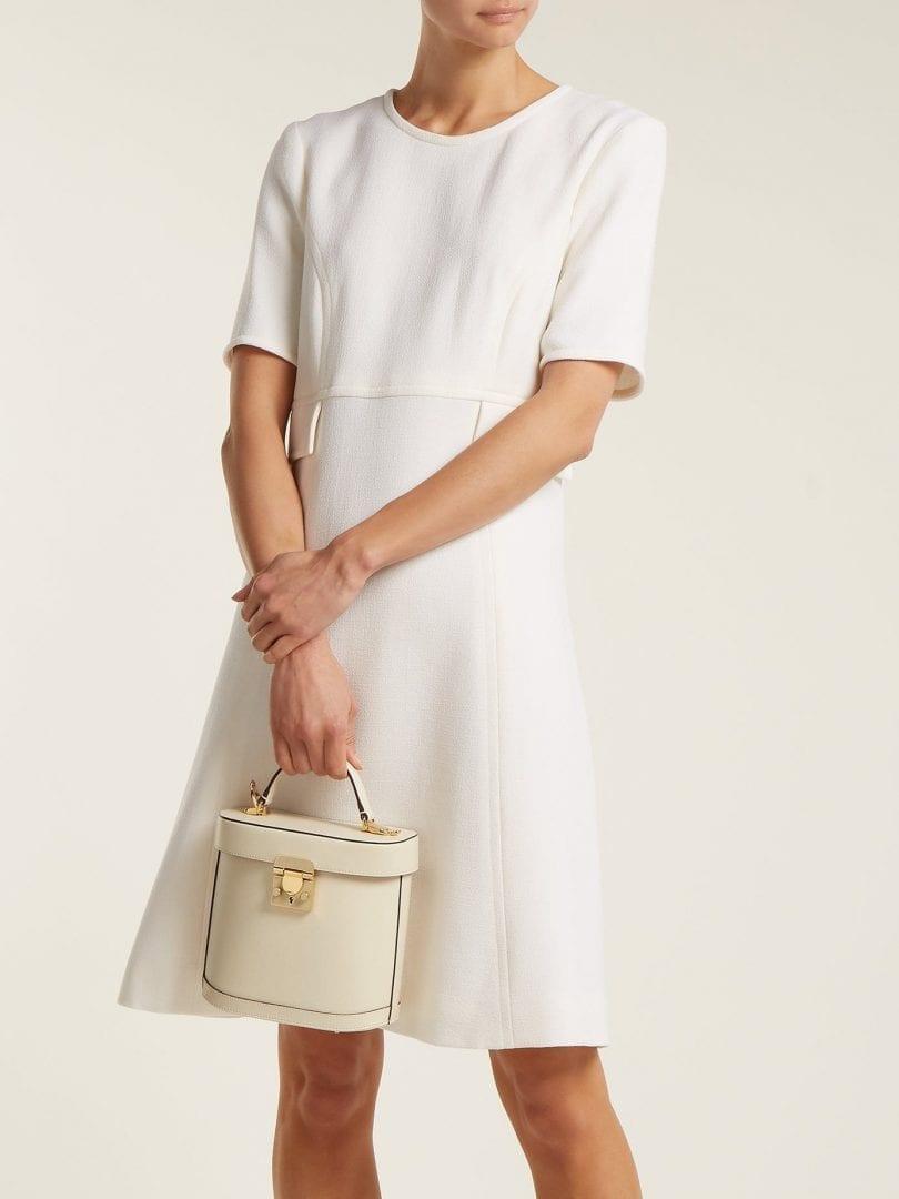 GOAT Geranium Wool Cream Dress