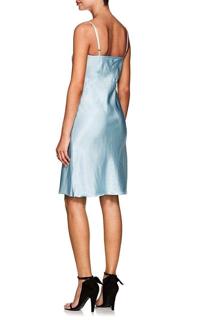 07a58d0097b4 HELMUT LANG Silky Twill Light Blue Slipdress - We Select Dresses