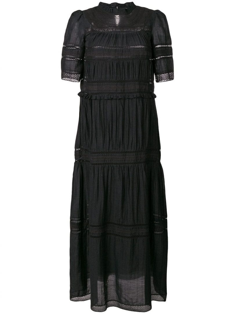 e4fb08b55ece6 ISABEL MARANT ÉTOILE Long Embroidered Black Dress - We Select Dresses