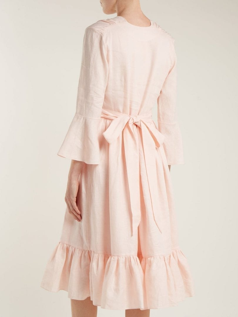 60a5831e83 Loup Linen Sea Dress Tie Charmant Light Waist Pink Island rvpr6naTq