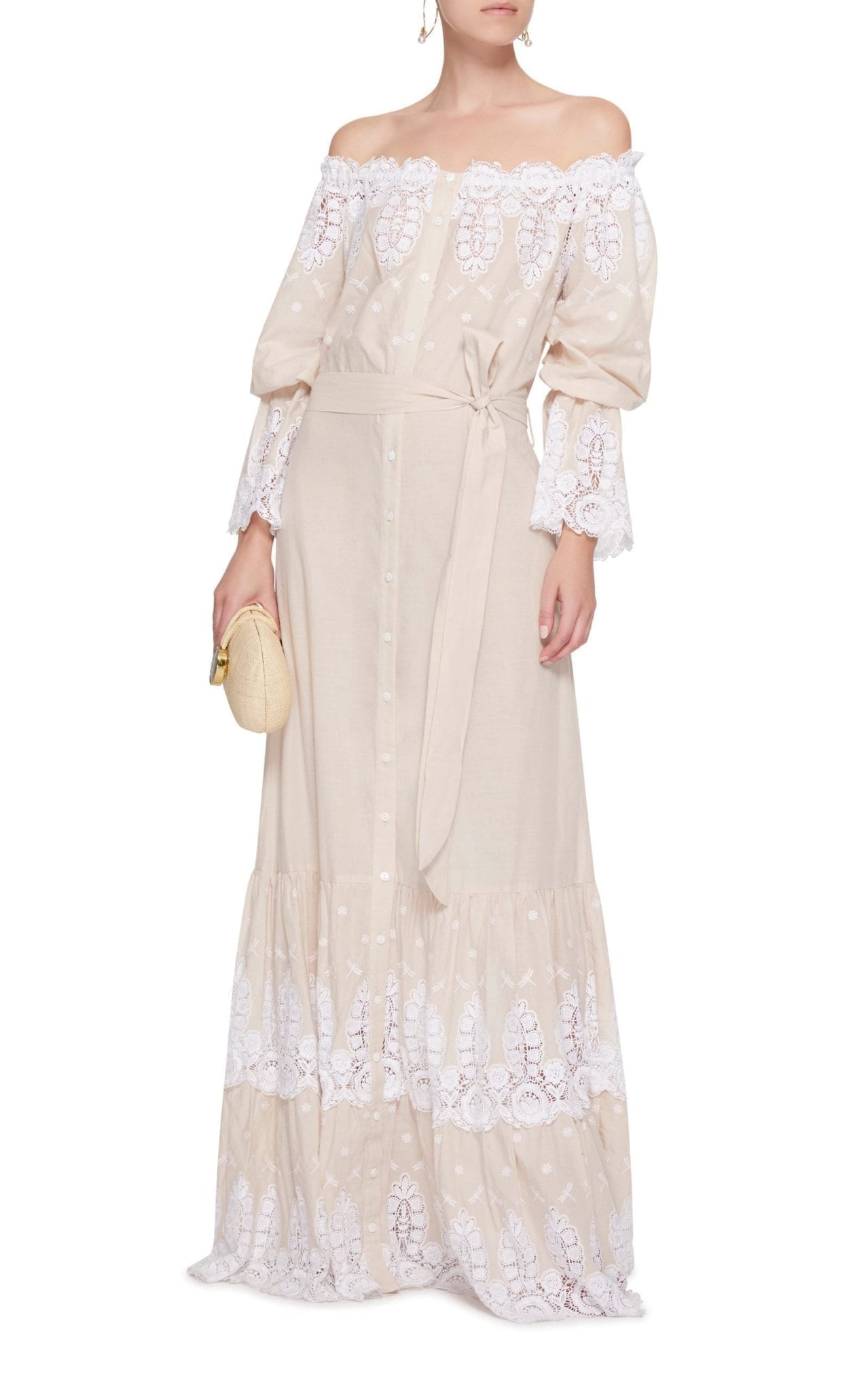 MIGUELINA Damia Neutral Dress