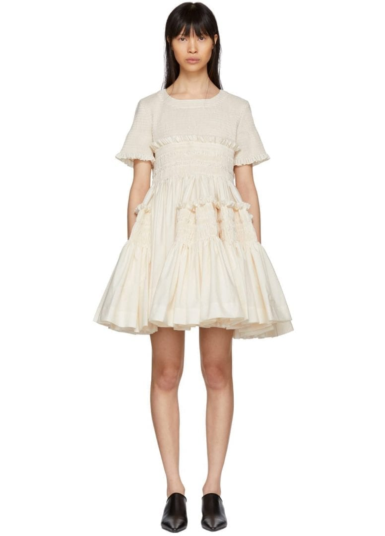 57a6bea6f MOLLY GODDARD Lynette Off White Dress - We Select Dresses
