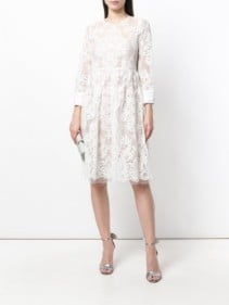 Nº21 Lace Skater White Dress