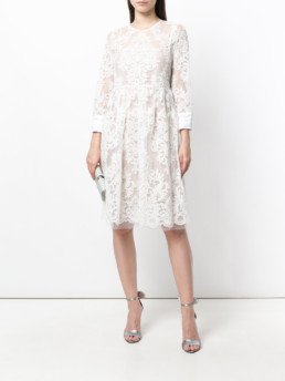 Nº21 Lace Skater White Dress