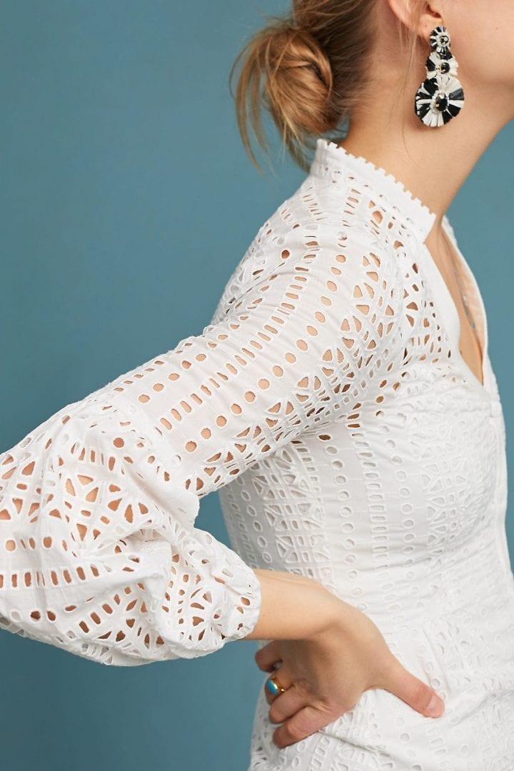 e06dcc2e3556 NANETTE LEPORE Nanette Lepore Newport Eyelet White Dress - We Select ...