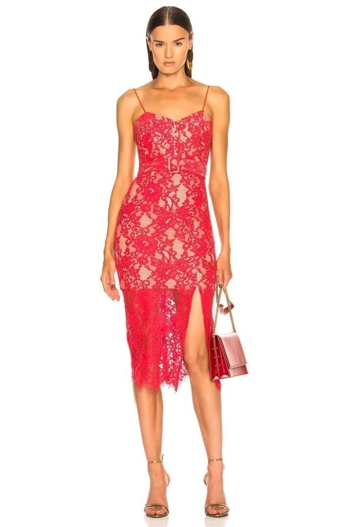 NICHOLAS Rubie Lace Bra Watermelon Dress