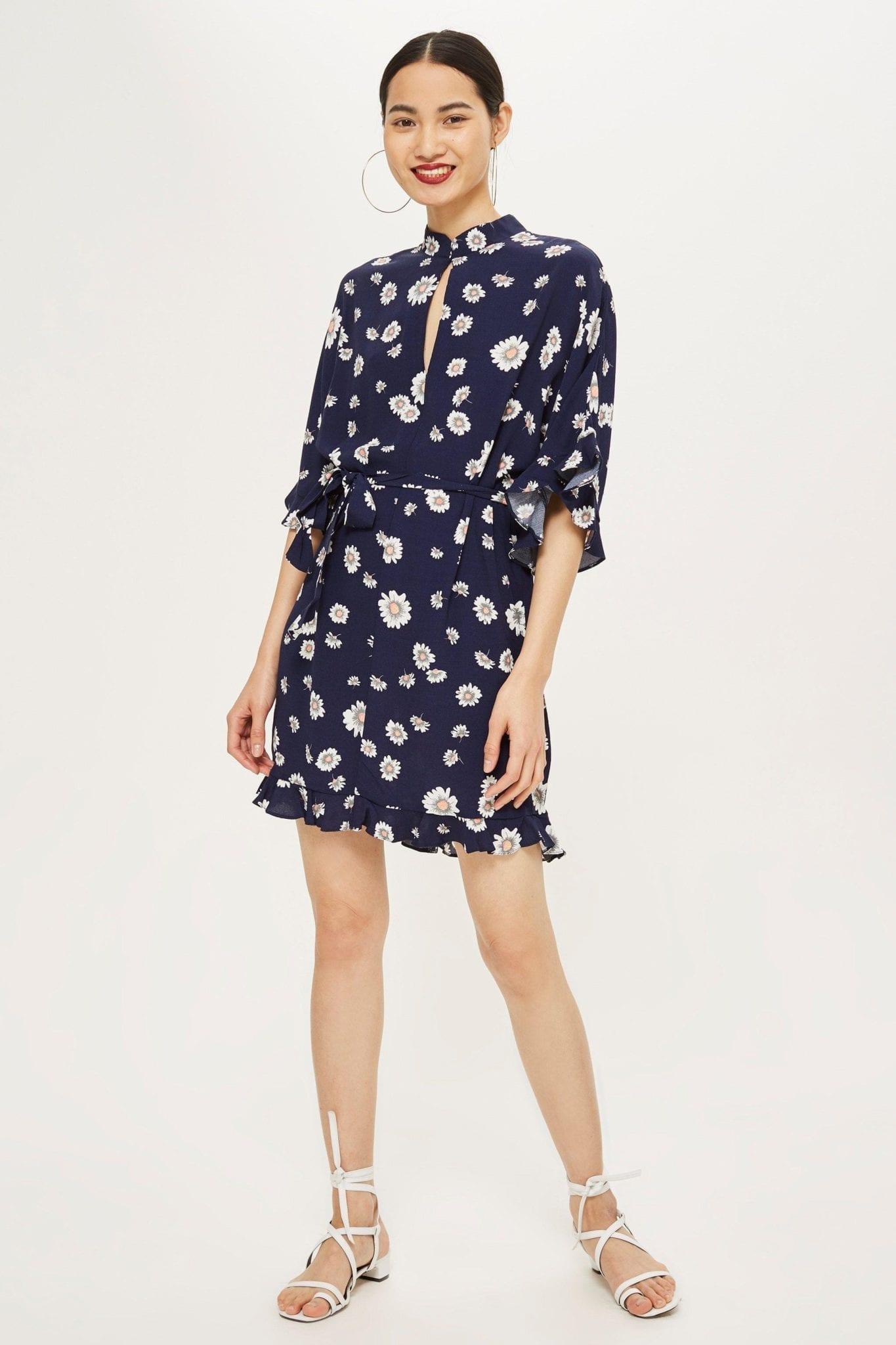 nobody s child daisy keyhole navy blue dress we select dresses