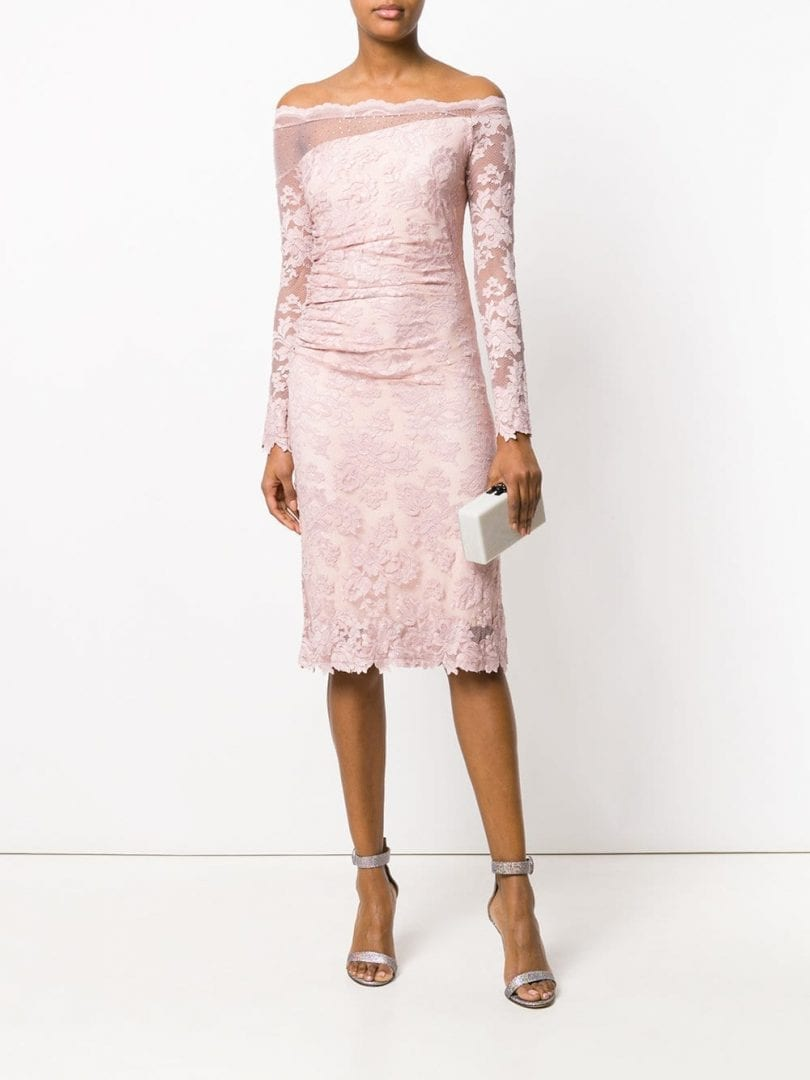 OLVI´S Lace Fitted Dusty Rose Dress