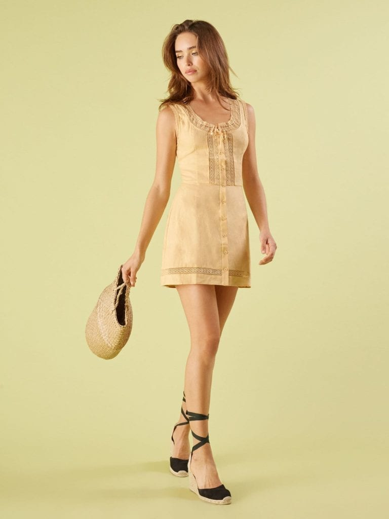 Reformation Helene Parmesan Dress We Select Dresses