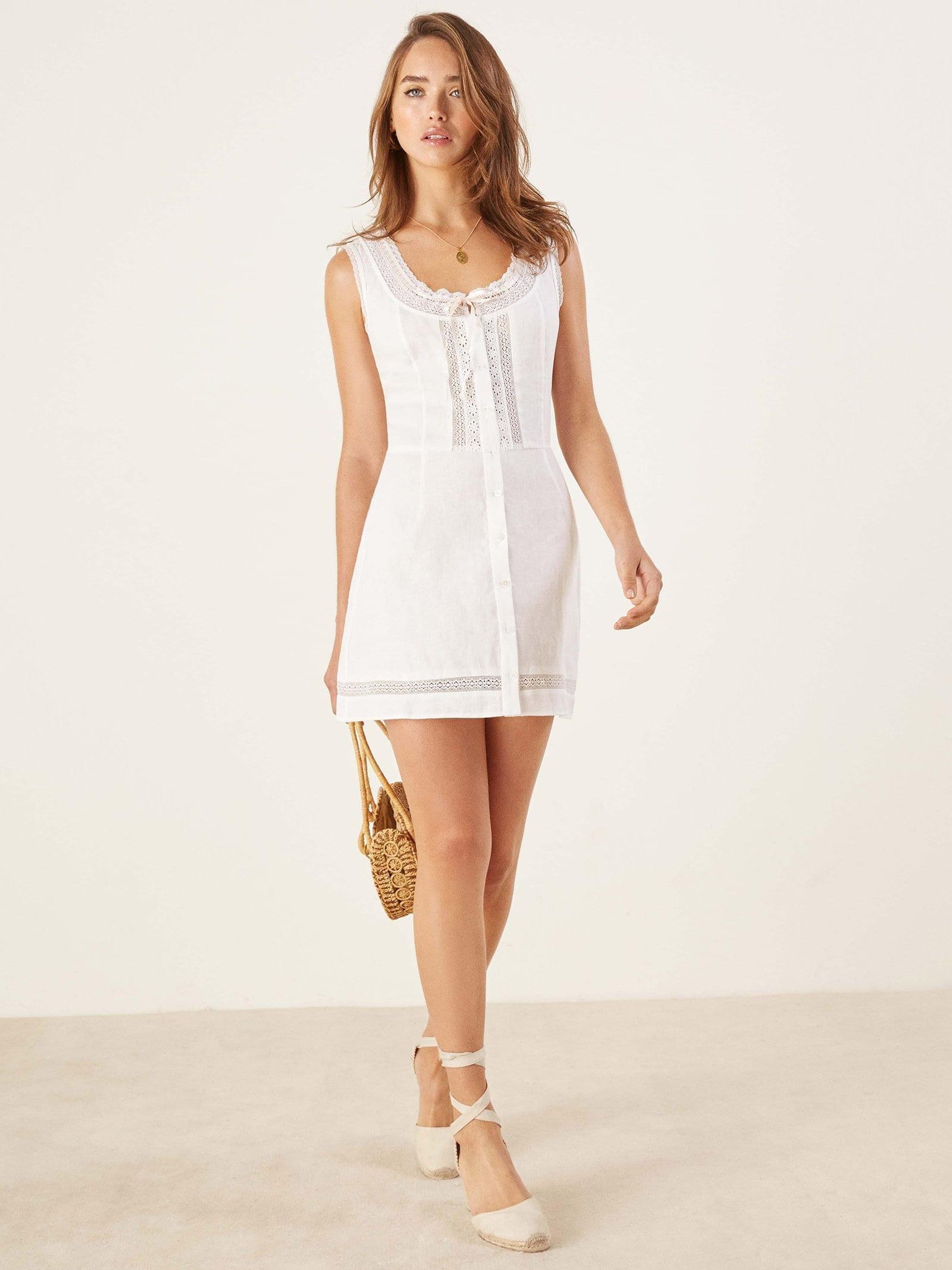 REFORMATION Helene White Dress