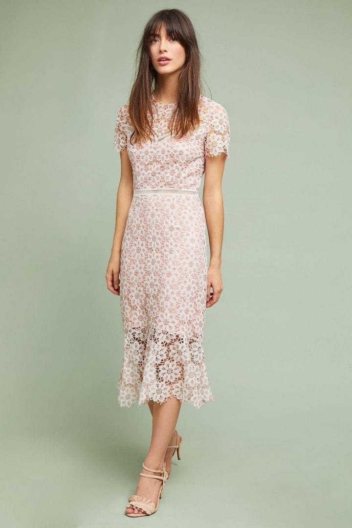 SAYLOR NYC Ambrosina Lace Pink Dress