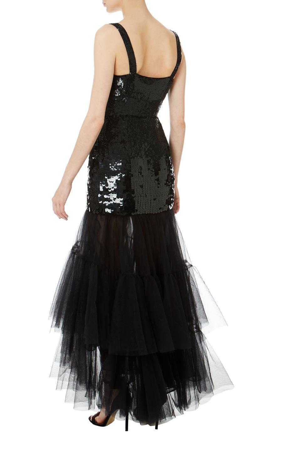 931609d7c3ba TEMPERLEY LONDON Bardot Midi Black Dress - We Select Dresses