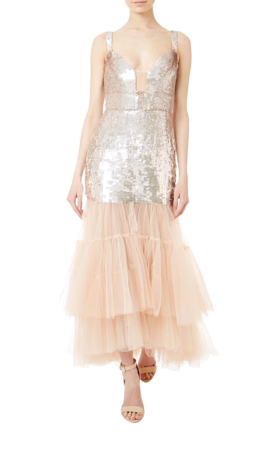 6ce5a5f6d16e TEMPERLEY LONDON Bardot Midi Procelain Dress - We Select Dresses