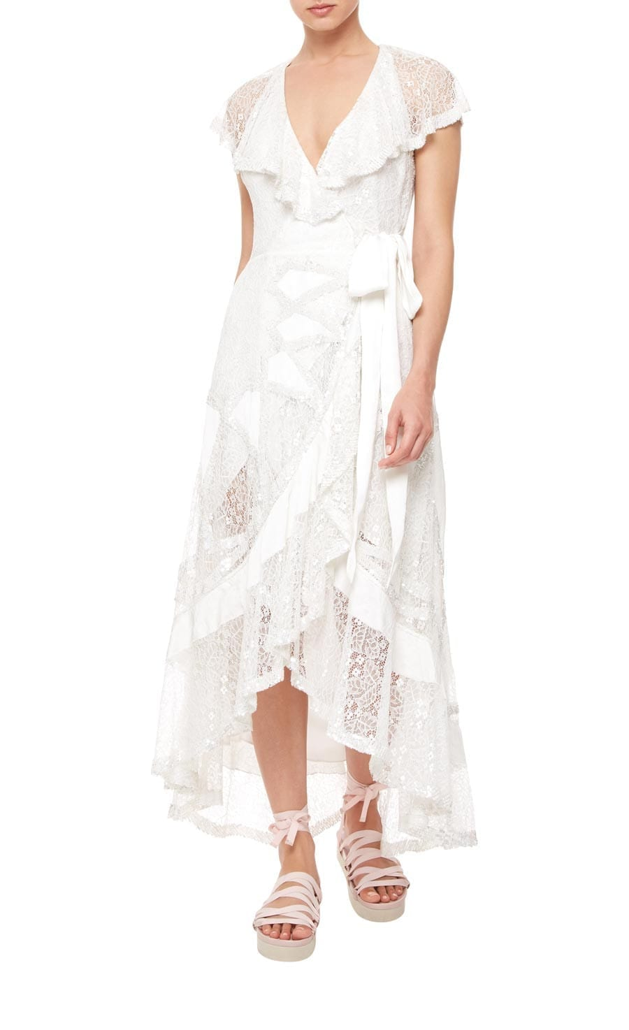TEMPERLEY LONDON Boulevard Ruffle White Dress
