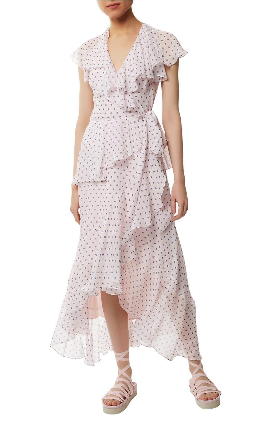 TEMPERLEY LONDON Dot Printed Nude Mix Dress