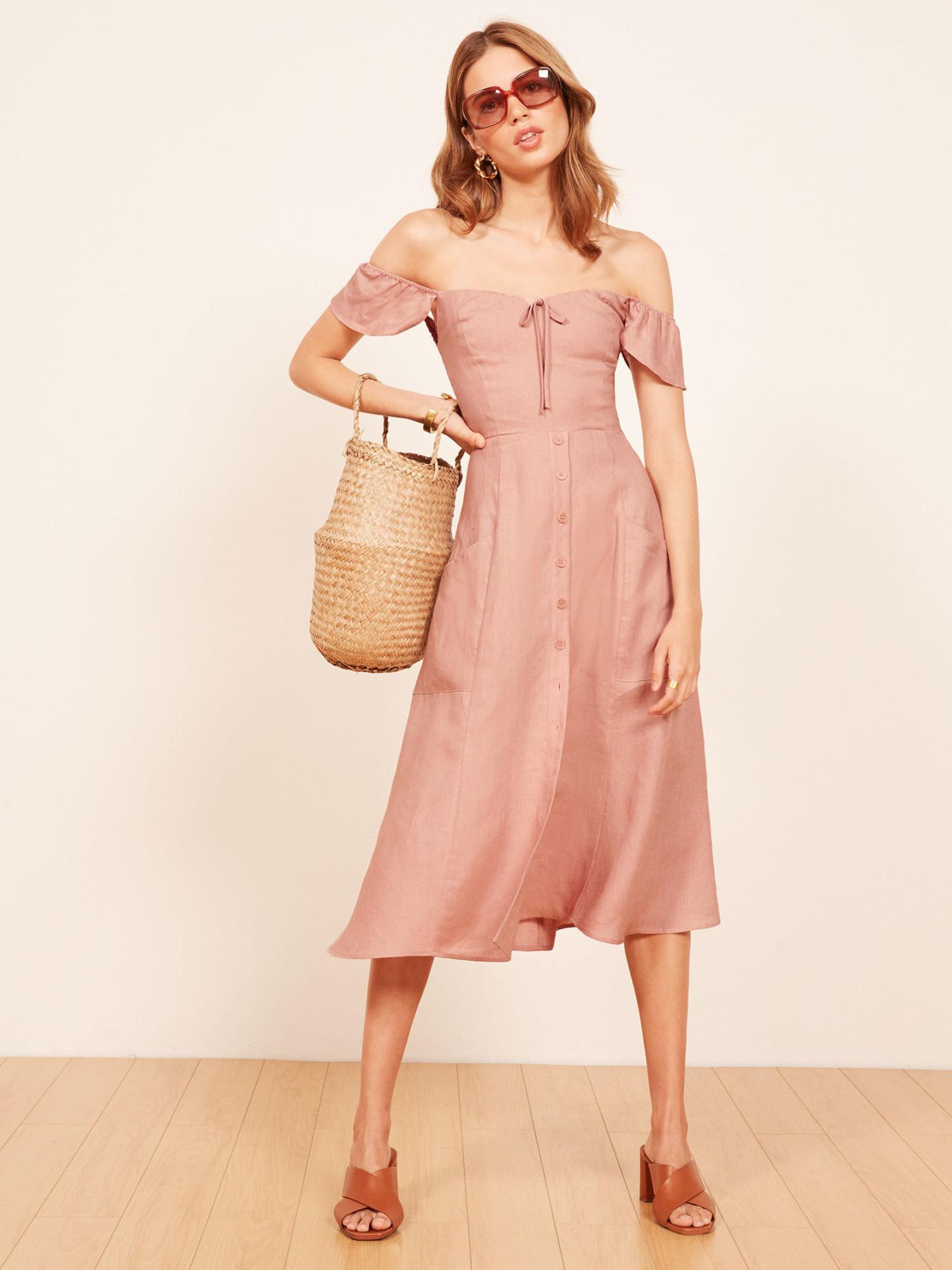 THE REFORMATION Francis Blush Dress