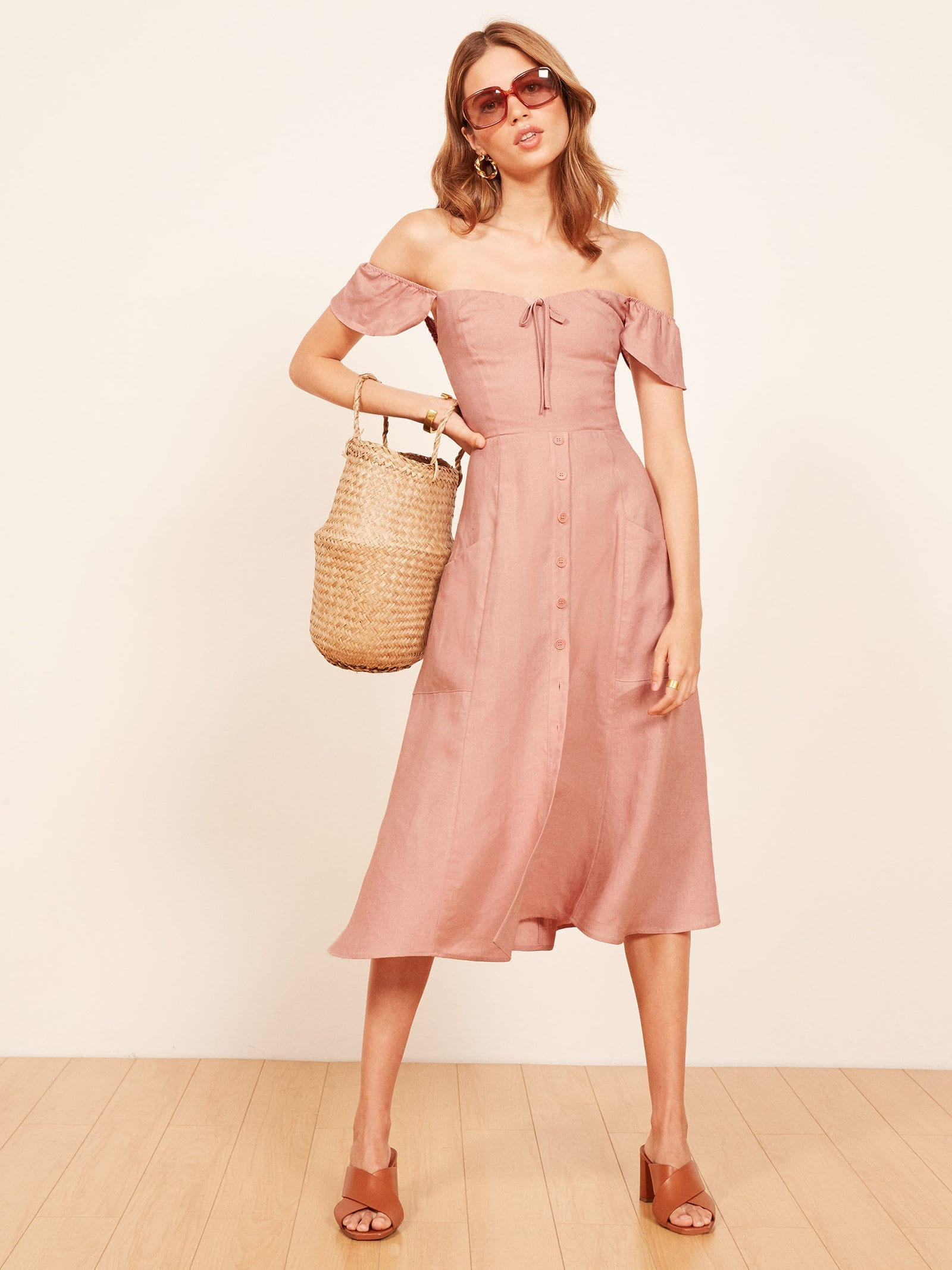 THE REFORMATION Francis Blush Dress