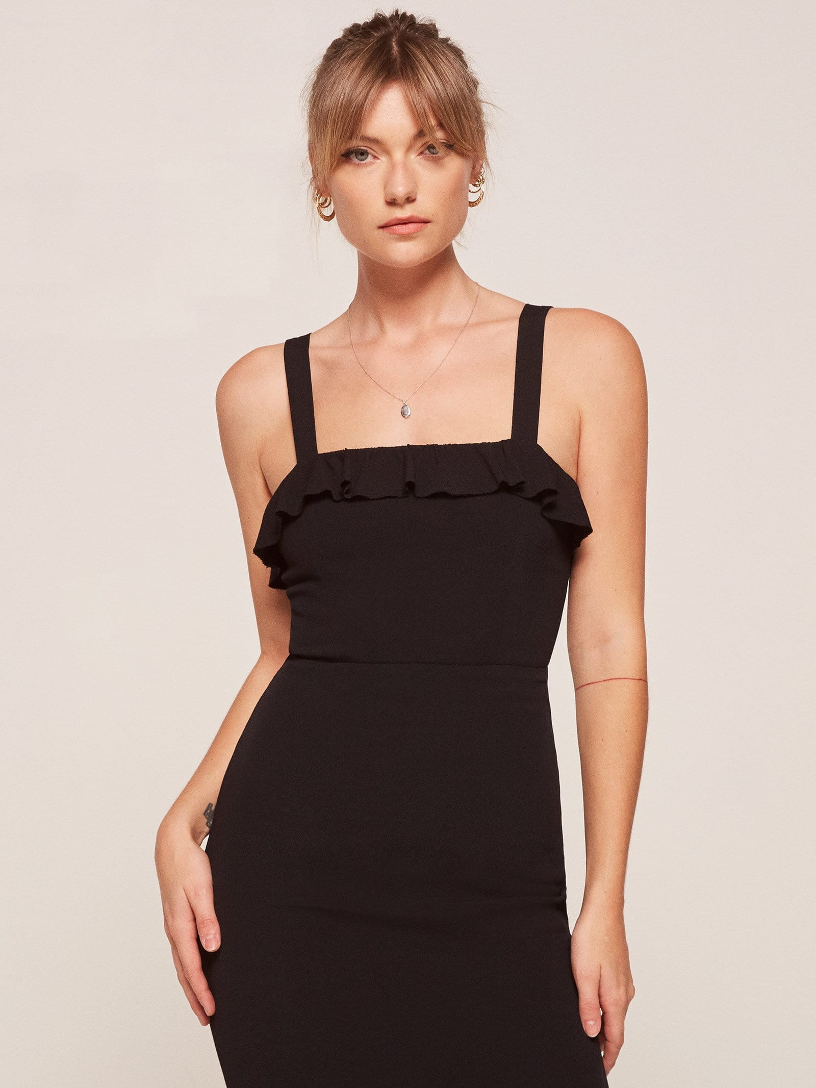 3d63b790a0 THE REFORMATION Frida Black Dress - We Select Dresses