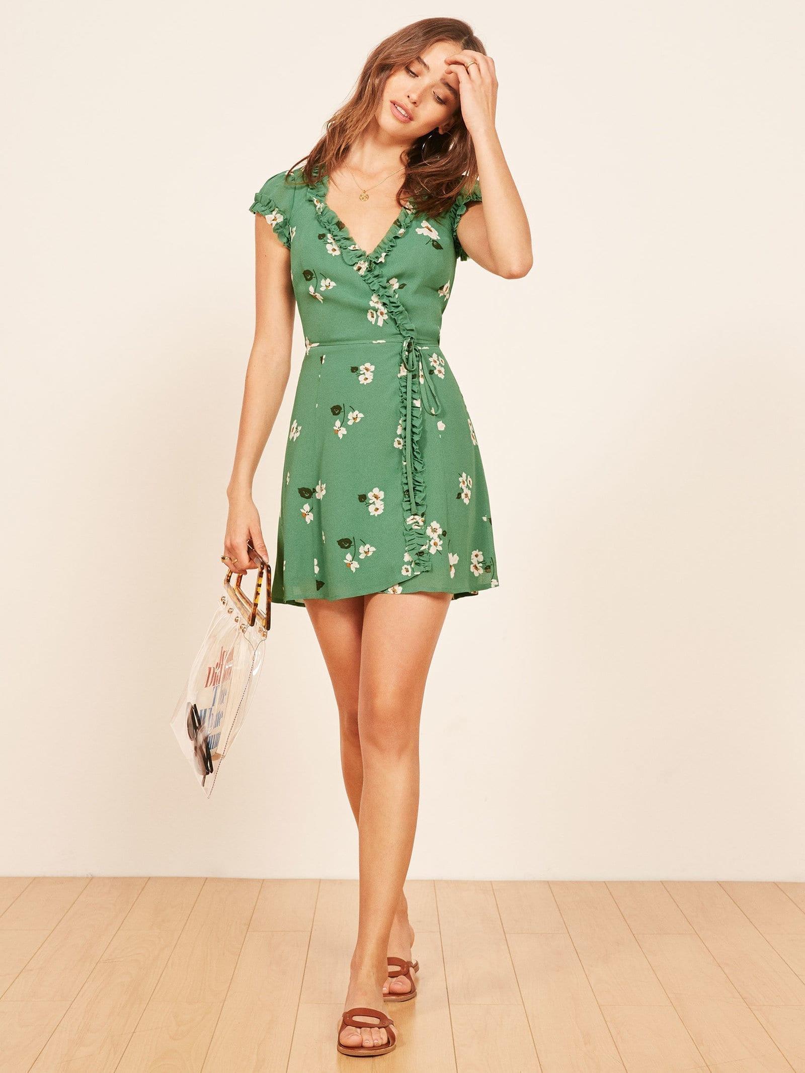 THE REFORMATION Garnet Melrose Dress
