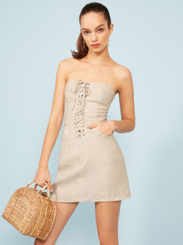 THE REFORMATION Sid Oatmeal Dress