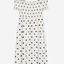 50eb420d5fe TOP SHOP Shirred Strappy Midi White Dress - We Select Dresses
