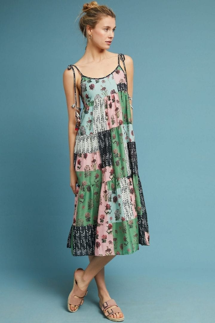 VERB BY PALLAVI SINGHEE Plantes Swing Green Dress