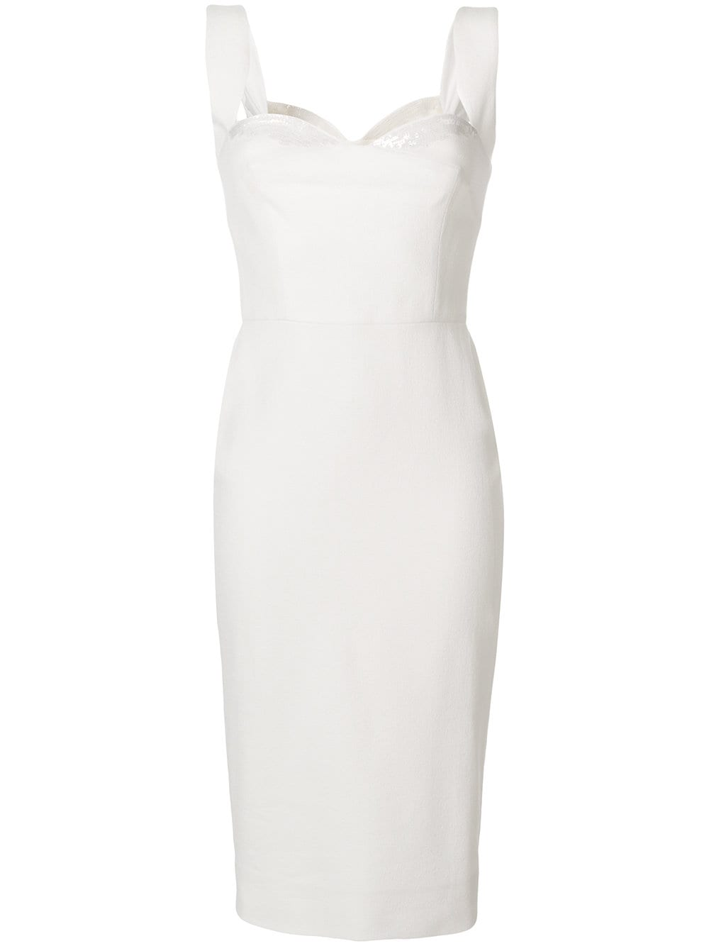 VICTORIA BECKHAM Embellished Signature Cream Dress