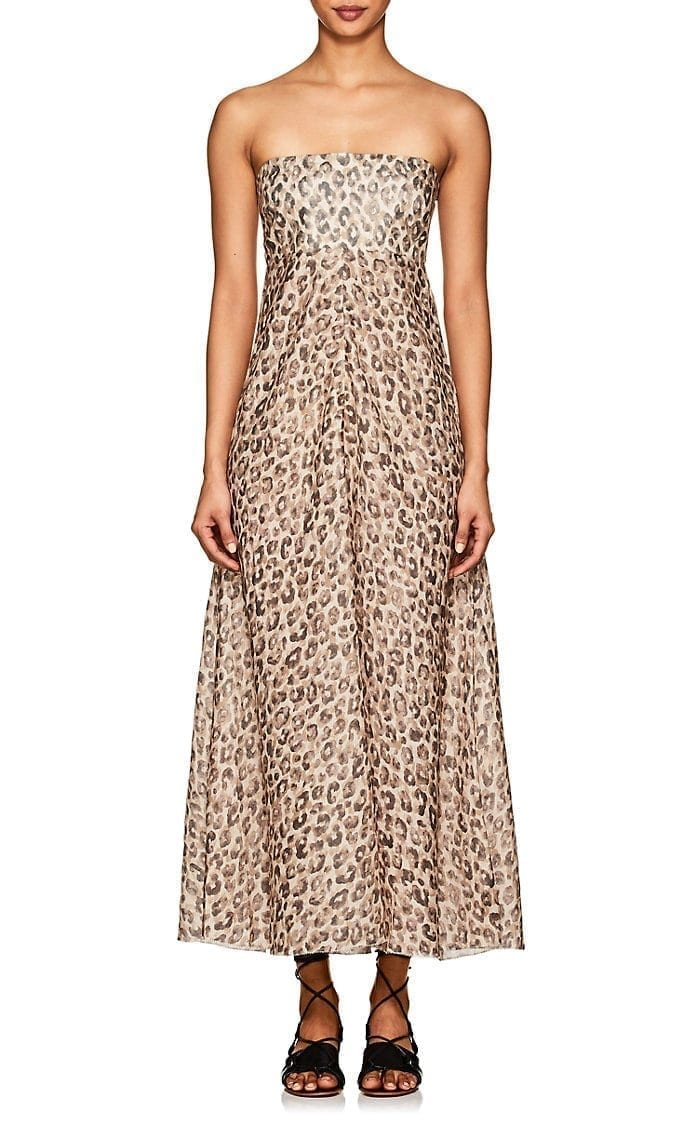 Dress We Select Printed Zimmermann Melody Dresses Maxi Linen Leopard N0nmw8