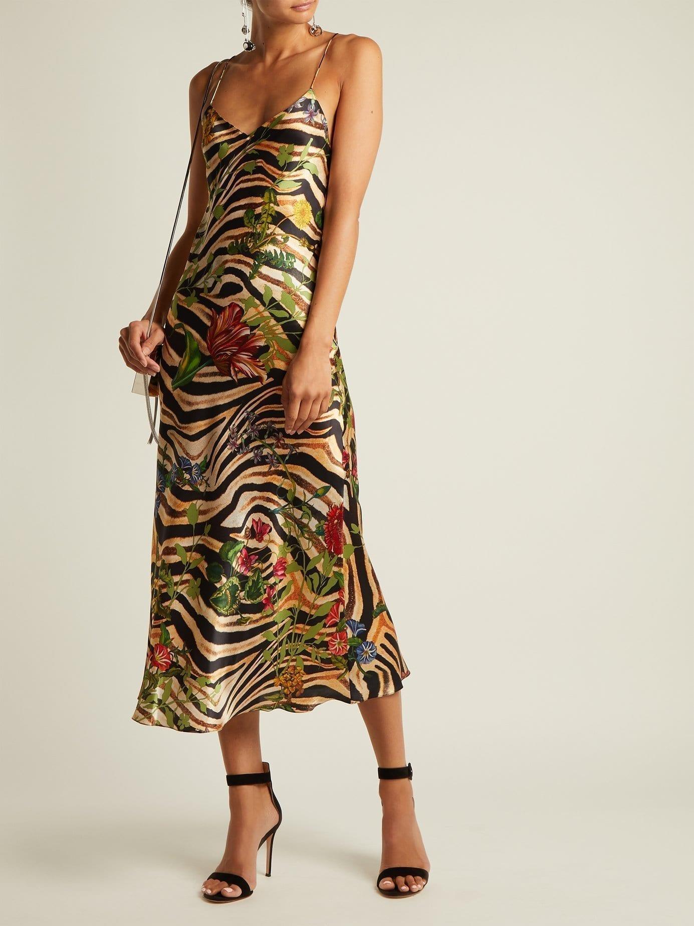 ADRIANA IGLESIAS Jadi Silk Leopard Printed Dress