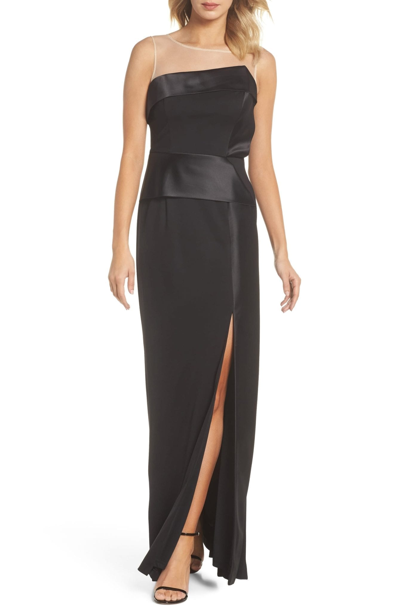 ADRIANNA PAPELL Lola Black Gown