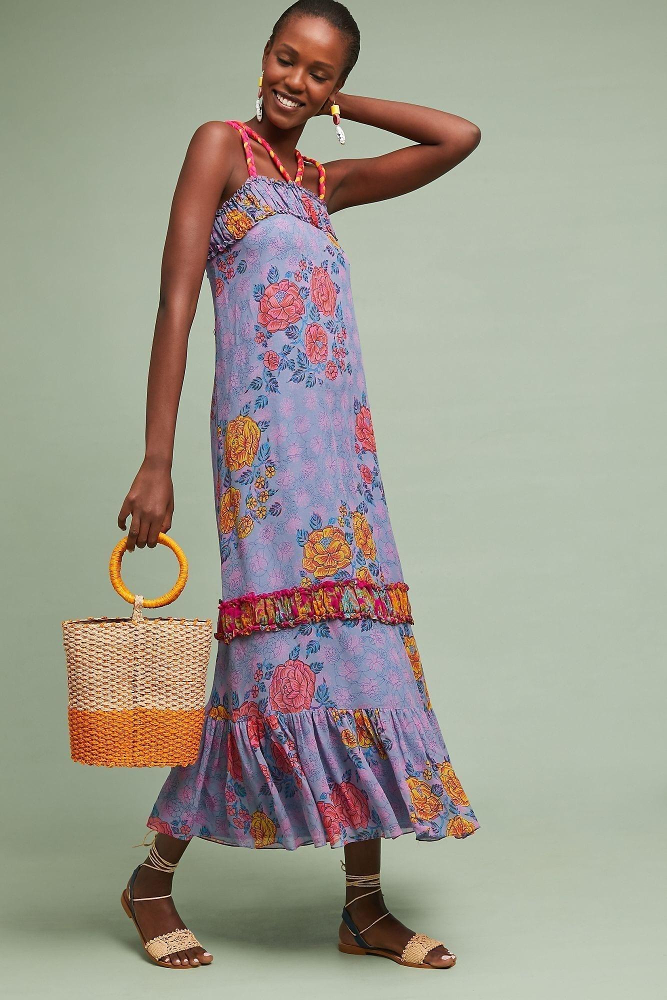 ANUPAMAA Coraline Maxi Purple Dress