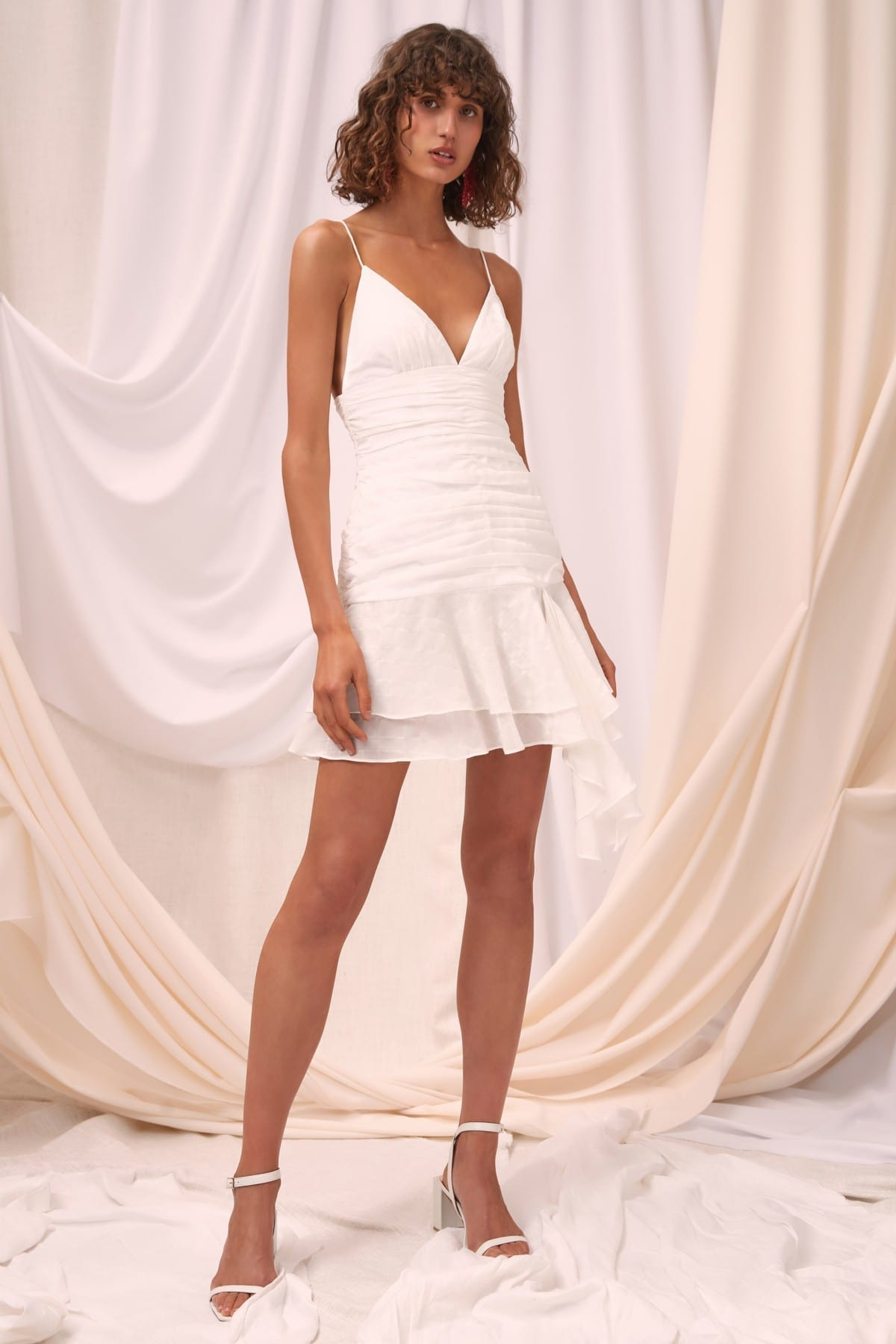 C/MEO COLLECTIVE Solace Mini Ivory Dress