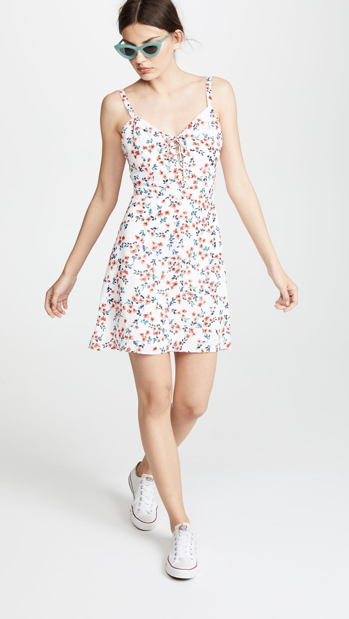 CUPCAKES AND CASHMERE Dennis White / Floral Printed Dress