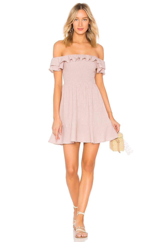 ENDLESS ROSE Smocked Bodice Dusty Rose Dress