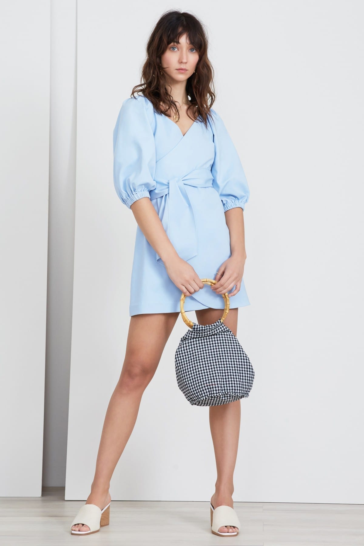 FINDERS KEEPERS Bridges Sky Blue Dress