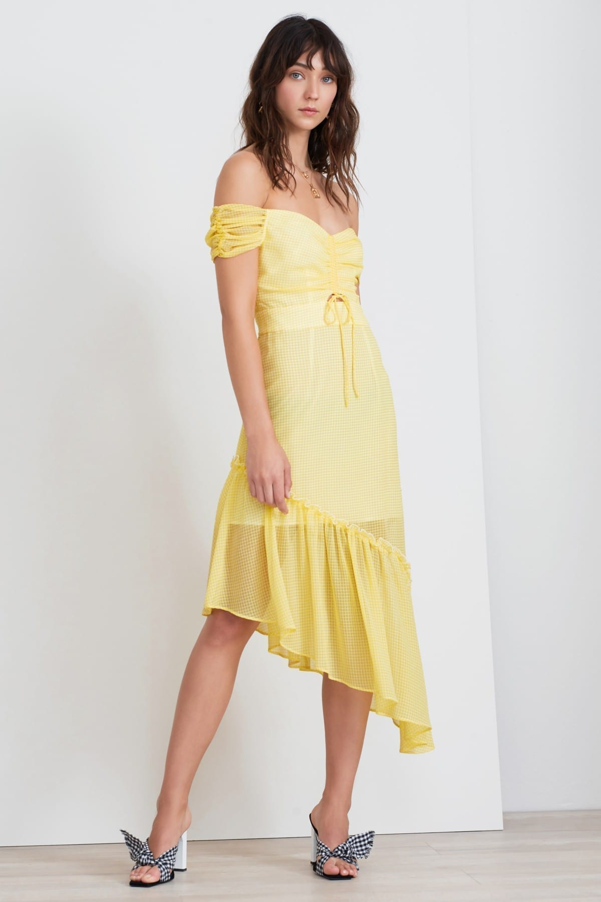 FINDERS KEEPERS Horizons Lemonade Gingham Dress