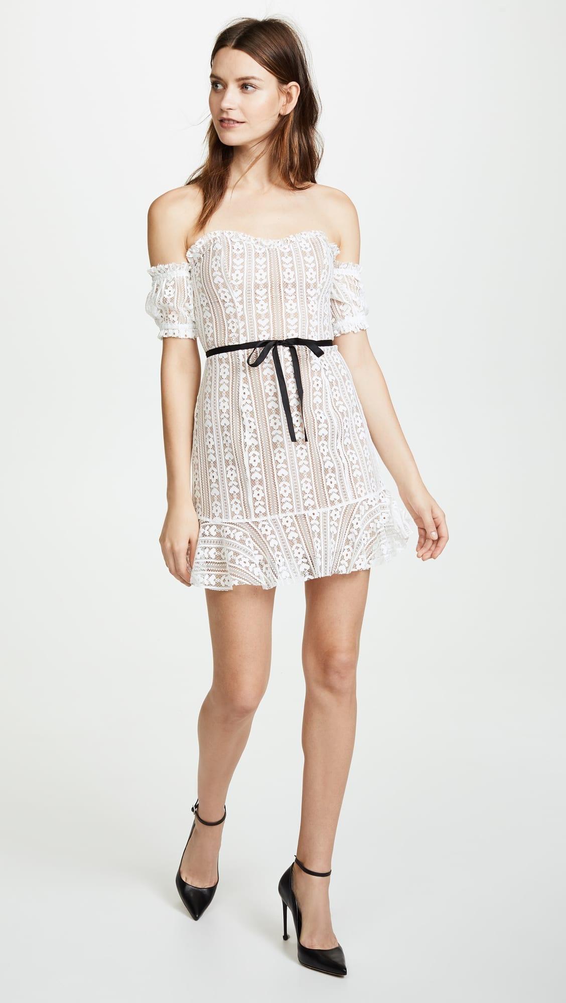 For Love Lemons Dakota Lace Mini White Dress