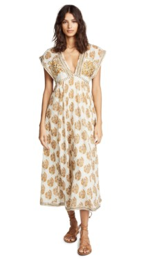 FREE PEOPLE Riakaa Ivory Floral Printed Dress