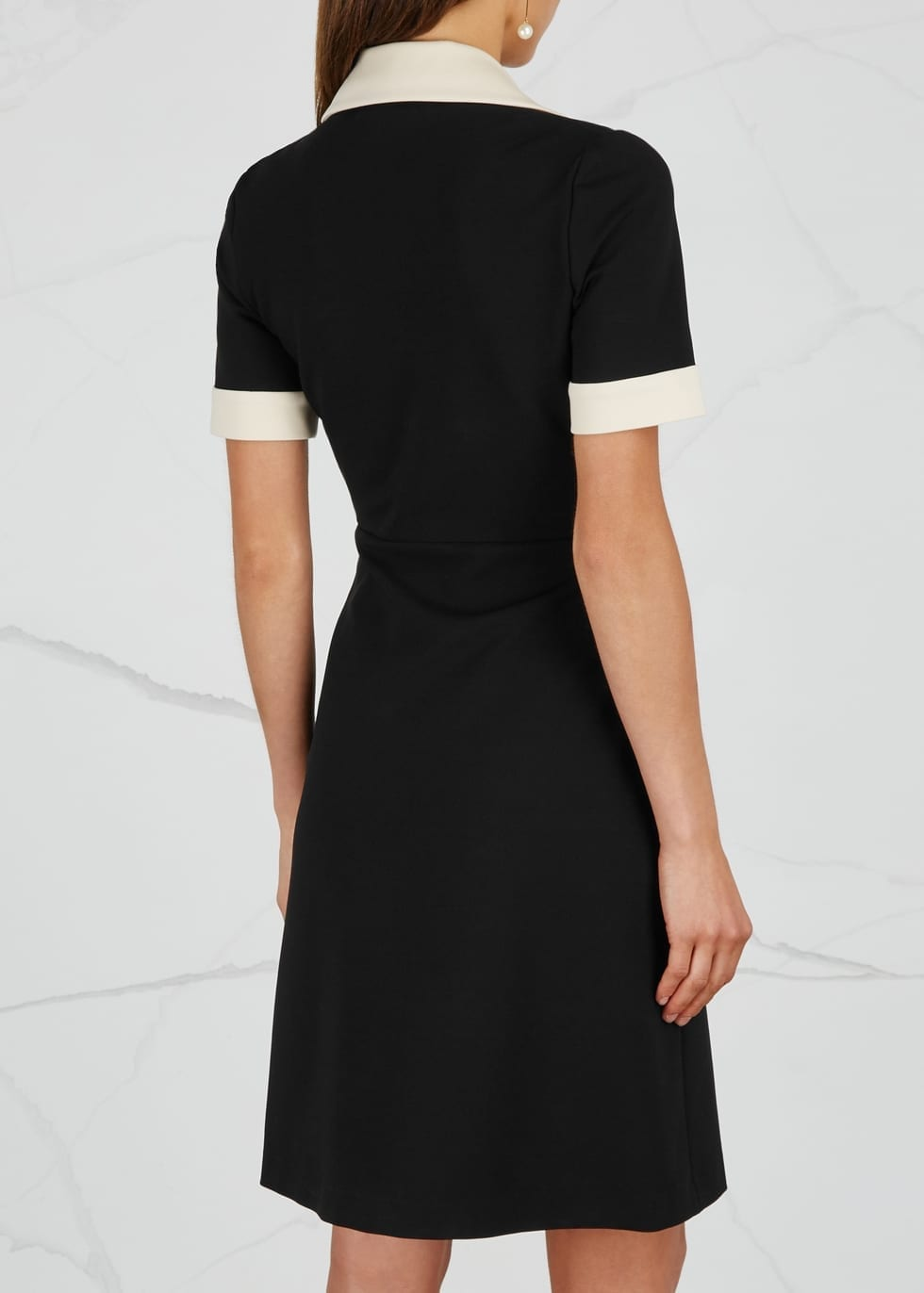 GUCCI Stretch Jersey Black Dress
